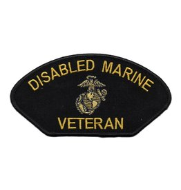 MidMil Embroidered Disabled Marine Veteran Patch with Emblem