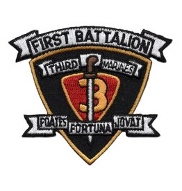 Embroidered 1st of the 3rd Marine Patch