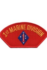 MidMil Embroidered Marine 1st Division Patch with Emblem Red