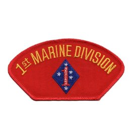 Embroidered Marine 1st Division Patch with Emblem Red