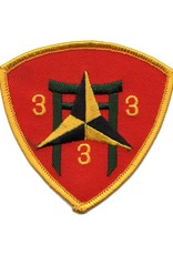 MidMil Embroidered 3rd of the 3rd of the 3rd Marine Patch Red