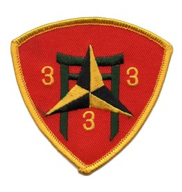 Embroidered 3rd of the 3rd of the 3rd Marine Patch Red