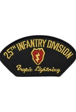 """MidMil Embroidered 25th Infantry Division Patch with Emblem and Motto """"Tropic Lightning"""" 5.3"""" wide x 2.8"""" high"""
