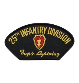 "MidMil Embroidered 25th Infantry Division Patch with Emblem and Motto 5.3"" wide x 2.8"" high"