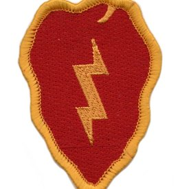 "MidMil Embroidered 25th Infantry Division Emblem Patch 2.2"" wide x 3.1"" high"