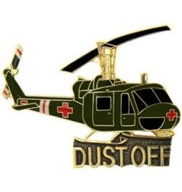 MidMil Army Huey Dust-Off  Pin 2""