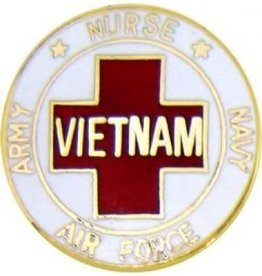 """MidMil Vietnam Nurse Pin with Army Navy and Air Force 7/8"""""""