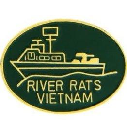 "MidMil River Rats Vietnam Oval Pin 1 1/8"""