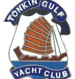 "Tonkin Gulf Yacht Club Pin 1 1/8"""