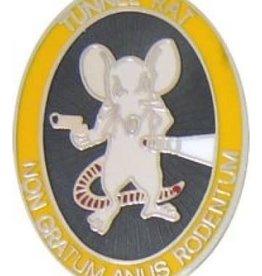 "MidMil Tunnel Rat Oval Pin 1 1/8"""
