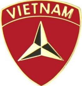 "MidMil 3rd Marine Division Vietnam Pin 1"""