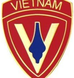 "MidMil 5th Marine Division Vietnam Pin 1"""