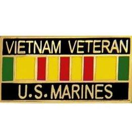"MidMil Vietnam Veteran Marines Service Ribbon Pin 1 1/8"""