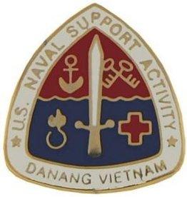"MidMil U.S.  Naval Support Activity Da Nang Vietnam Pin with Emblem 3/4"""