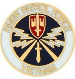 "MidMil Vietnam River Patrol Force Navy Pin 7/8"""
