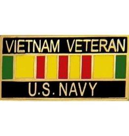 """MidMil Navy Veteran Vietnam Service Ribbon Pin 1 1/8"""""""