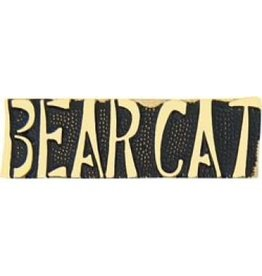 Bear Cat Text Pin 1 1/4""