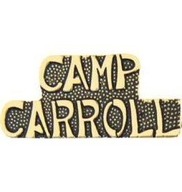 """Camp Carroll Text Pin 1 1/4"""""""