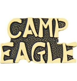 MidMil Camp Eagle Text Pin 1""