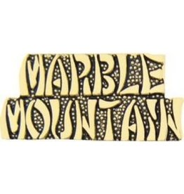MidMil Marble Mountain Text Pin 1 1/4""