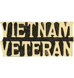 MidMil Vietnam Veteran Text Pin  1 1/4""