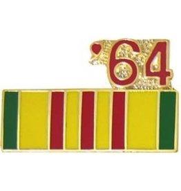"Vietnam Service Ribbon '64 Pin 7/8"""