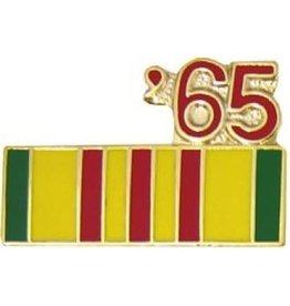 "Vietnam Service Ribbon '65 Pin 7/8"""