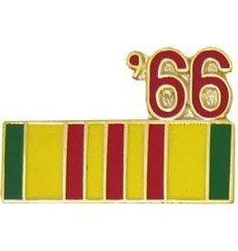 """MidMil Vietnam Service Ribbon '66 Pin 7/8"""""""