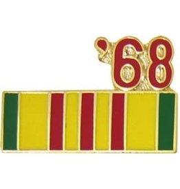"Vietnam Service Ribbon '68 Pin 7/8"""