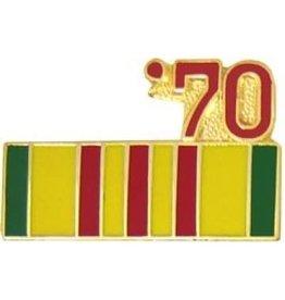 "Vietnam Service Ribbon '70 Pin 7/8"""