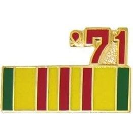 """MidMil Vietnam Service Ribbon '71 Pin 7/8"""""""
