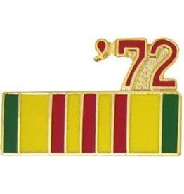 """MidMil Vietnam Service Ribbon '72 Pin 7/8"""""""