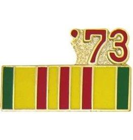 """MidMil Vietnam Service Ribbon '73 Pin 7/8"""""""