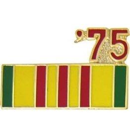 """MidMil Vietnam Service Ribbon '75 Pin 7/8"""""""