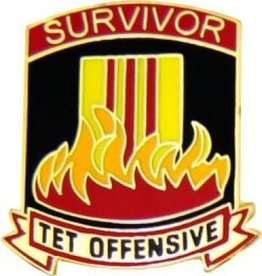 MidMil Tet Offensive Survivor Pin 7/8""