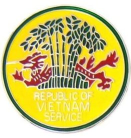 MidMil Vietnam Veteran  Republic of Vietnam Service Pin Dragon in Trees 1""