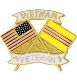 MidMil Vietnam Veteran Flags Pin 1 1/8""