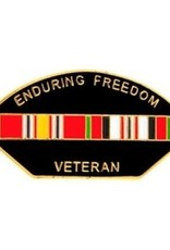 """MidMil Enduring Freedom Veteran Pin with Ribbons 1 1/4"""""""