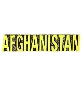 """Afghanistan Text Pin 1 3/8"""""""