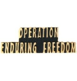 """Operation Enduring Freedom Text Pin 1 1/2"""""""