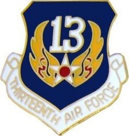 MidMil 13th Air Force Pin 1""