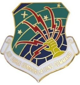 MidMil Air Force Communication Command Pin 1 1/8""