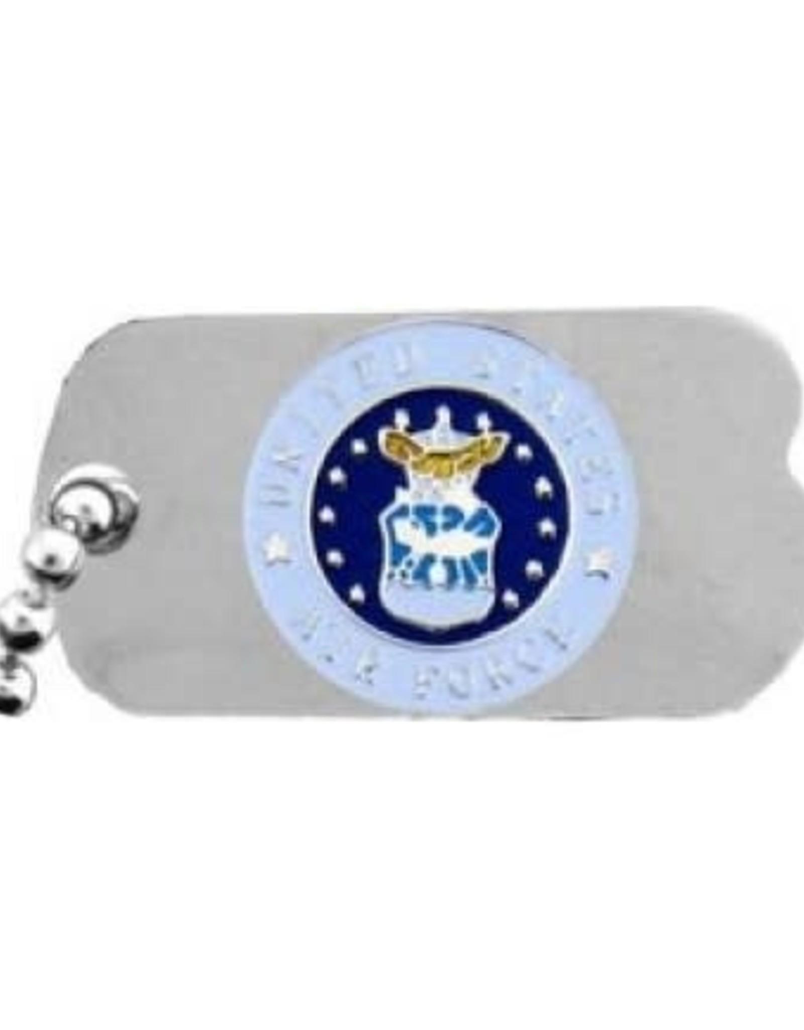 """MidMil Air Force Dog Tag Seal Emblem Pin 1"""""""