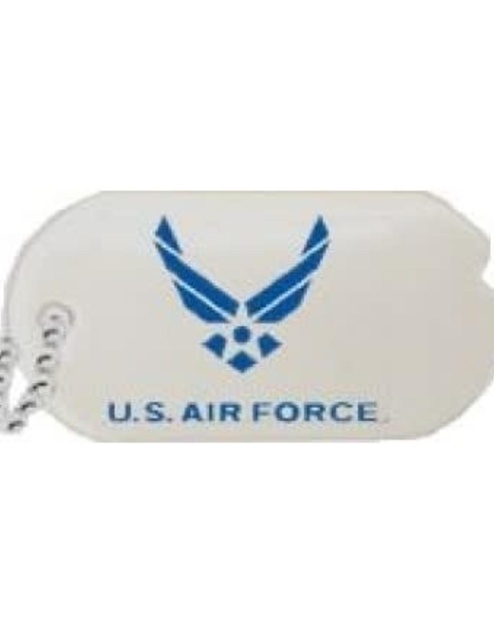 "MidMil Air Force Dog Tag Wing Emblem Pin 1"""