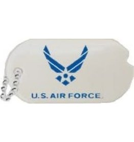 MidMil Air Force Dog Tag Wing Emblem Pin 1""