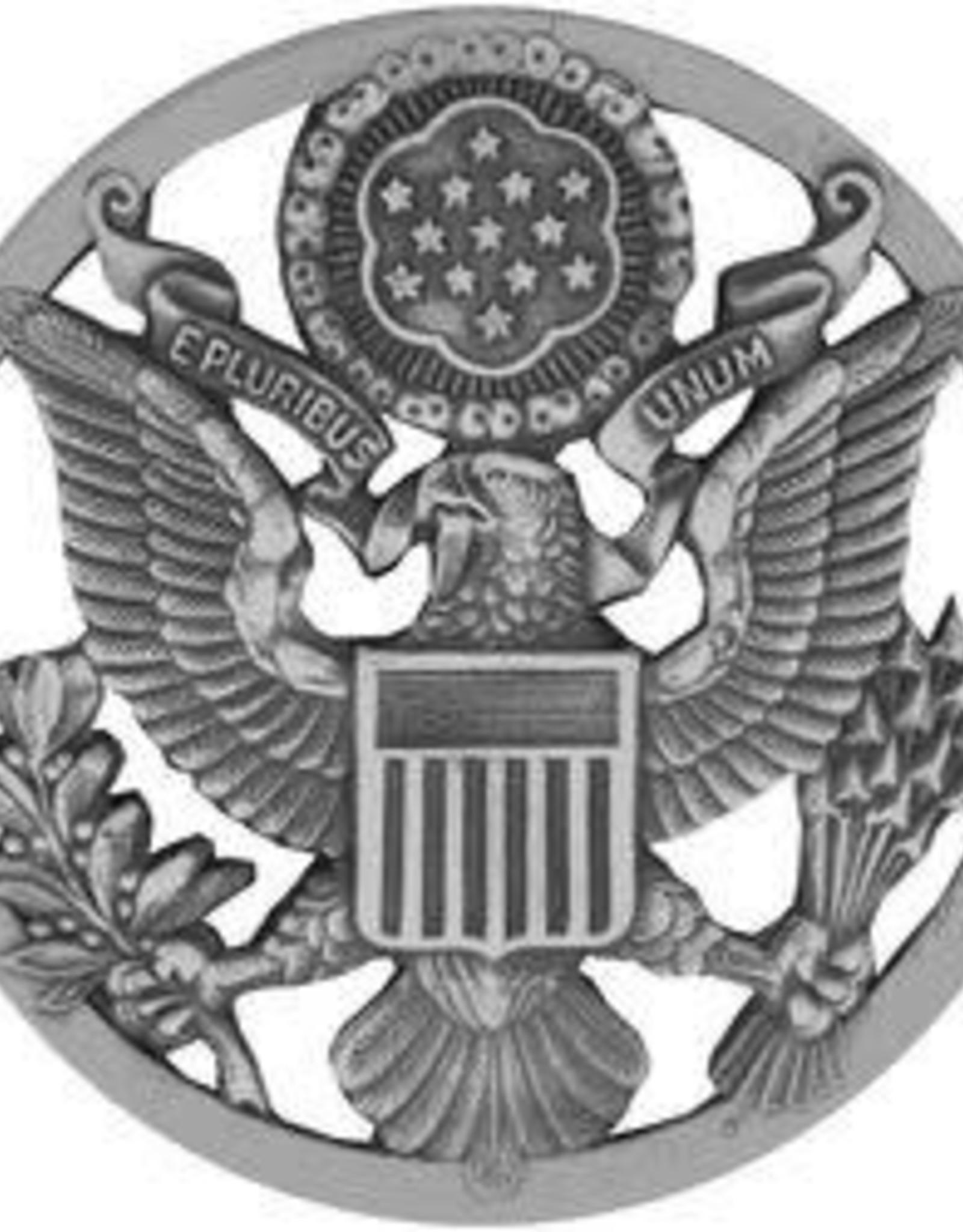 "MidMil Air Force Eagle Cap Badge Pin 1 3/4"""