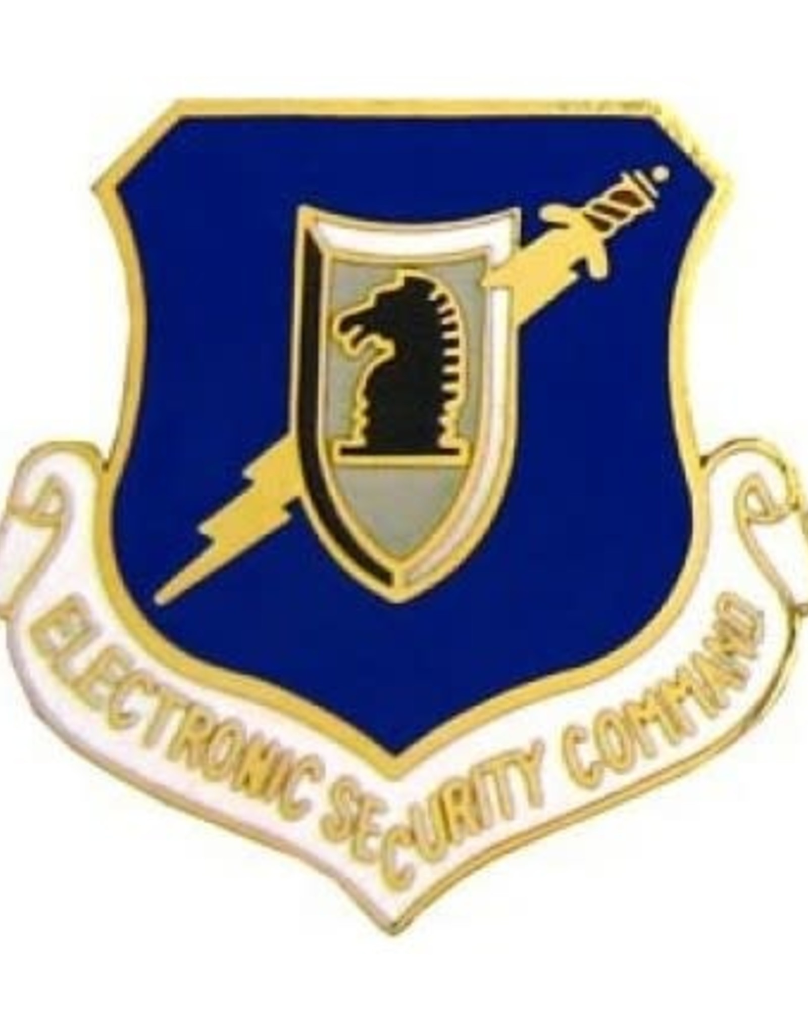 """MidMil Air Force Electronic Security Command Pin 1 1/8"""""""