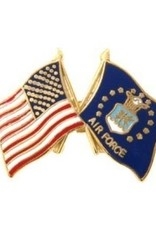 """MidMil American and Air Force Seal Flags Pin 1"""""""