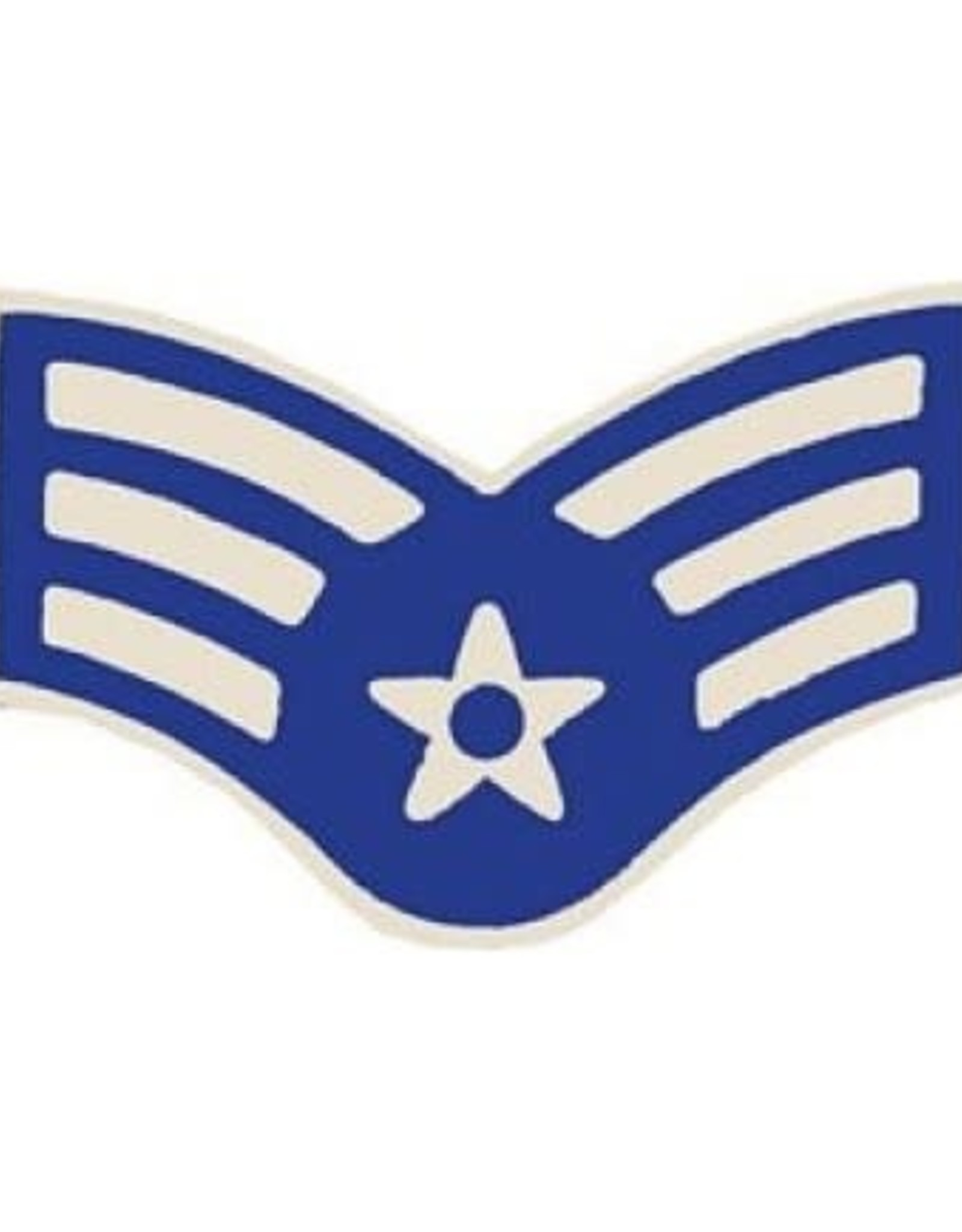 MidMil Air Force Senior Airman (E-4) Pin 1 1/16""