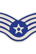 "MidMil Air Force SSgt (E-5) Pin 1 1/16"""